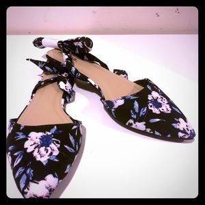 Fun Floral Sandal with Tie Strap